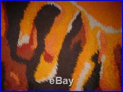 New Year Sale! Vintage 1960's Hand Woven Danish Rya Rug, 4x5. Sun Motif