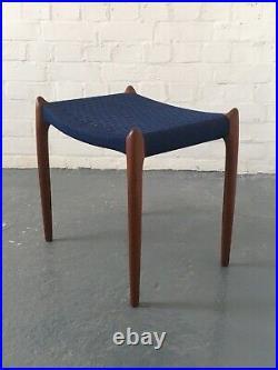 Niels Moller 78a teak stool, Danish vintage 1960s midcentury retro scandinavian