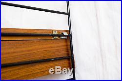 ORIGINAL TEAK STRING Regal 50er 60er Vintage Nisse Retro schwarz Mid Century