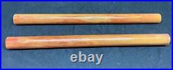 Old Amber Bakelite Rare 2 Rods Vein Marble Prayer Bead Simchrom test 17.5mm 158g