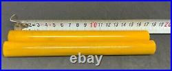 Old Amber Bakelite Veined Rare 2 Rods Prayer Beads simichrome test 17.8 mm 112 g