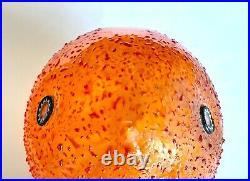 Orange Pulcino Vistosi Alessandro Pianon Murano Glass Bird Cooper Legs