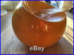 Orange Stool Ball Chair Retro Plastic