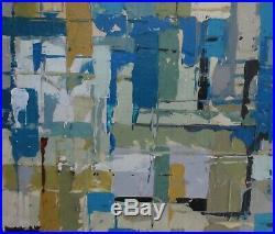 Original Abstract Oil Painting 70s 80s Mid-Century Modern Vintage Retro Cornish