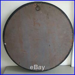Original Vintage Round Black Wall Mirror Ebonised Mid Century 46cm m197