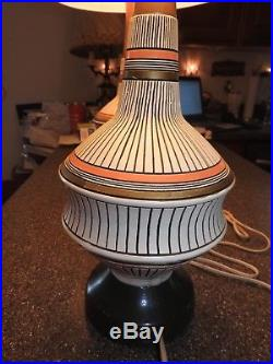 PAIR, 2 VINTAGE 1960's MID CENTURY DANISH MODERN EAMS ERA RETRO TABLE LAMPS