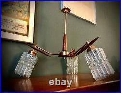 PAIR OF RARE 70s ORIGINAL VINTAGE TEAK WALL LAMPS LIGHTS MID CENTURY RETRO