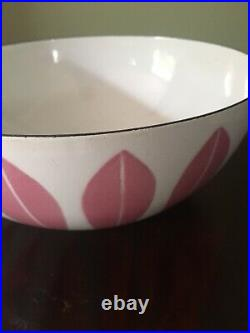 PINK Catherine Holm Lotus Bowl 9.5 Scandinavian Mid Century Design MCM