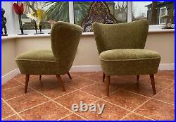Pair Original Retro Vintage MID Century Cocktail Chairs Great Condition Dec20-14