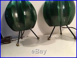 Pair Vintage Midcentury Retro Era Royal Haeger Lamps