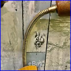 Pair of Danish Mid Century Vintage Retro 1960s Teak Pull Switch Wall Lights MCM