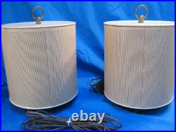 Pair of Vintage Electrohome Speakers 1000 Model Speakers Mid Century Retro Beige