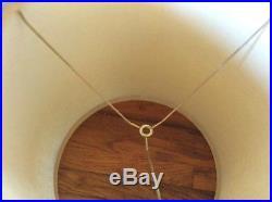 Pair of Vintage retro mid century modern mcm Barrel drum table Lamp Shades