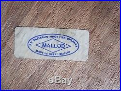 Pair of vintage Mallod mid century bent wood waste paper bins with labels Retro