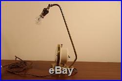 Pifco Timeside lamp brass alarm clock retro 50s 60s 70s vintage mid century