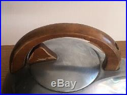 Piquot Ware Stove Kettle With Wooden Handle Mid-Century Modern Retro Vintage