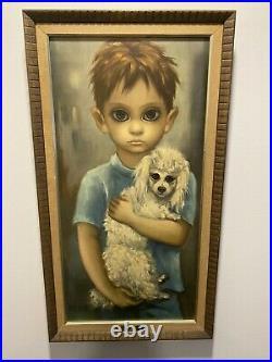 Premium Walter Margaret Keane Big Eyes Boy with Dog- No Dogs Allowed
