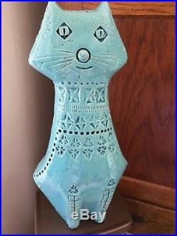 RARE ALDO LONDI RIMINI BLU CAT for BITOSSI Retro Vintage Mid century Italian