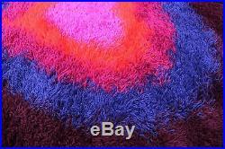 RARE DANISH MODERN EGE RYA DE LUXE POP ART RUG panton space age warhol