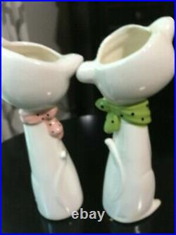 - RARE Holt Howard Vintage Cozy Kitten Cat Vase Planters Bud Vases Set of 2