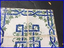 RARE VINTAGE Tile Top Wrought Iron Table Retro Mid century Modern California
