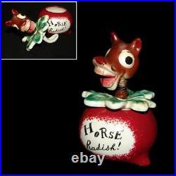 RARE Vintage Davar Holt Howard Napco HORSE RADISH Pixie Nodder Pixieware