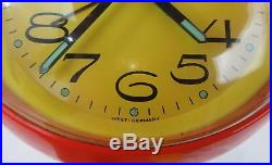 RARE Vintage Retro Mid Century Mod FLORN West Germany Saarinen Base Alarm Clock