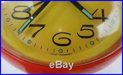 RARE Vintage Retro Mid Century Mod FLORN West Germany Saarinen Base Alarm Clock