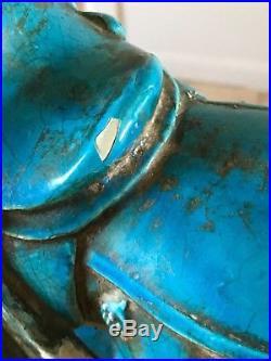 RARE Vintage Retro Rimini Blue Mid Century Zaccagnini Bitossi Tang Horse Italy