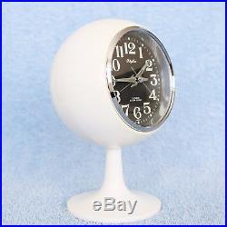 RHYTHM ALARM CLOCK 51129 TOP! Pedestal Space Age RETRO Japan Vintage Mid Century