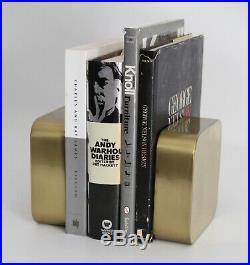 Radius One Sklaroff Vtg Mid Century Modern Brass Metal Bookends Smith Arts Retro