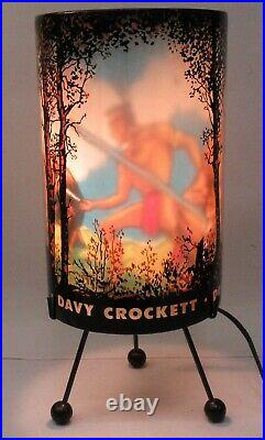 Rare 1955 Goodman DAVY CROCKETT electric motion lamp WORKING
