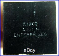 Rare 1962 MID Century Austin Cox Enterprises Chess Set