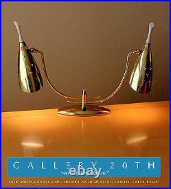 Rare! 50's Gio Ponti MID Century Brass Laurel Lamp! Atomic Modern Gold Vtg Retro