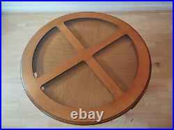 Rare G Plan Astro Quadrant 60s Teak & Glass Coffee Table With Nest Of 4 Tables
