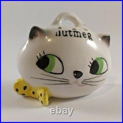 Rare Holt Howard Cozy Kitten Cat Spice Rack Set Japan 1959