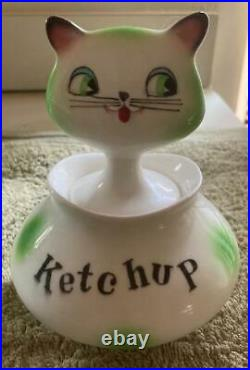 Rare Holt Howard Cozy Kitten Ketchup Jar Excellent Condition Marked Japan