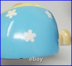 Rare Turquoise Miss Cutie Pie Memo Holder with pad. Vintage Mid Century Japan