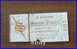 Rare Vintage 1950's Mid Century Wood'SWORDS' Planter Indoor Plant Stand
