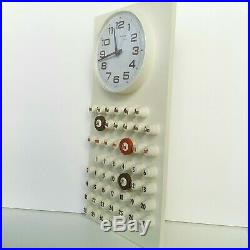 Rare Vintage 1960 Space Age MidCentury Atomic Retro Burwood Wall Clock Calendar