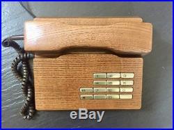 Rare Vintage Retro Mid Century Gfeller Trub Solid Wood Telephone. Working