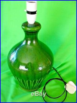 Rare original old vintage retro mid century Holkham Pottery table Lamp No L534