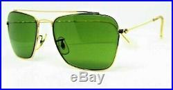 Ray-Ban USA Mint Vintage 1950s B&L Aviator Rare Brace Caravan Sunglasses & Case