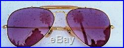 Ray-Ban USA NOS Vintage B&L Aviator Outdoorsman Rose Changeables New Sunglasses