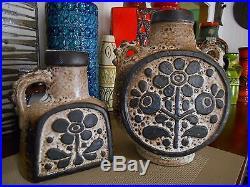 Retro 1960's fat lava vase, vintage Carstens West German mid century pottery pot