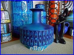 Retro 1960's fat lava vase, vintage FOHR West German mid century Eames pottery