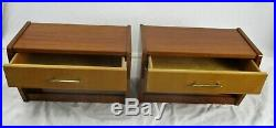 Retro Pair Vintage Floating Nightstands End tables Mid Century Modernist WOW