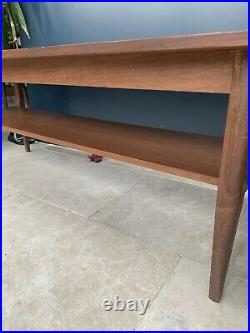 Retro Teak Coffee Table Mid Century G Plan Style With Magazine Shelf