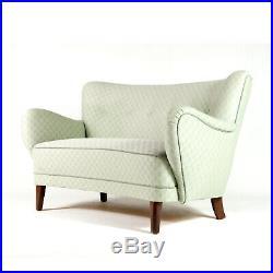 Retro Vintage Danish Love Seat 2 Seater Sofa 50s 60s 70s Mid Century Modern Teak