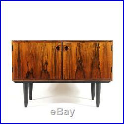 Retro Vintage Danish Low Rosewood Sideboard Cabinet 1960s Mid Century Modern 70s